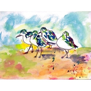 Betsy Drake Multicolor Polyester Sanderlings Placemats (Pack of 4)