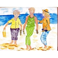Betsy Drake Grandma at the Beach Multicolor Polyester Placemats (Pack of 4)