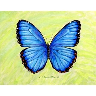 Betsy Drake Dick's Blue Morpho Place Mat (Pack of 4)