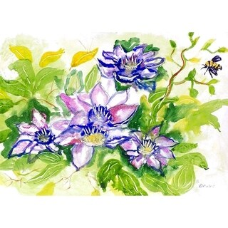 Betsy Drake Clematis Polyester Place Mats (Pack of 4)