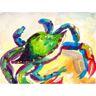 Betsy Drake Teal Crab Polyester Place Mats (Pack of 4)