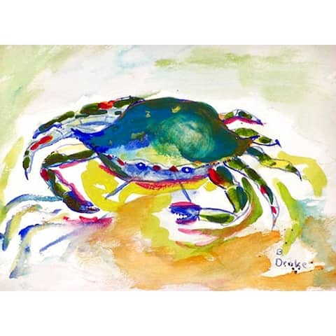 Betsy Drake Multicolor Polyester Green Crab Placemats (Pack of 4)