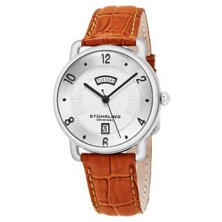 Stuhrling Original Men's Quartz Tan Leather Strap Watch