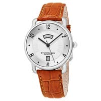 Stuhrling Original Men's Quartz Tan Leather Strap Watch