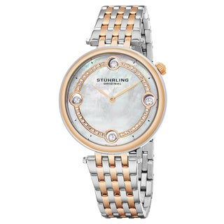 Stuhrling Original Women's Quartz Two-Tone Stainelss Steel Link Bracelet Watch - silver
