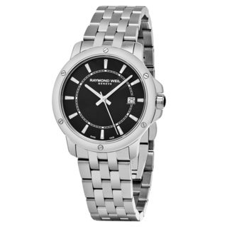 Raymond Weil Men's 5591.ST20001 'Tango' Black Dial Stainless Steel Swiss Quartz Watch