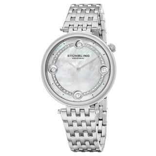 Stuhrling Original Women's Quartz Crystal Stainless Steel Link Btacelet Watch