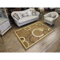Passion Beige Machine-made Polypropylene Area Rug (8' x 11')