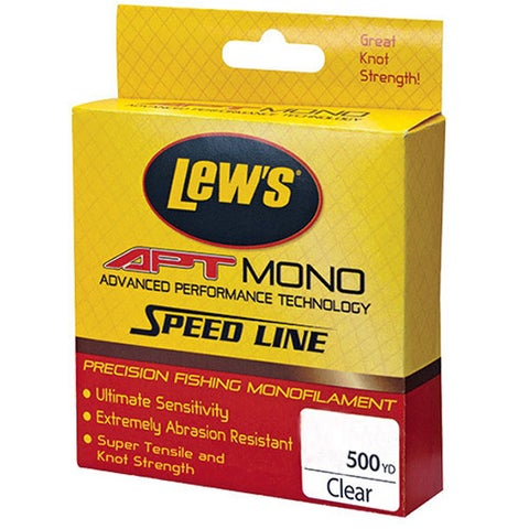 Lews Fishing APT Monofilament Speed Line 25 lbs, 500 Yards, Clear