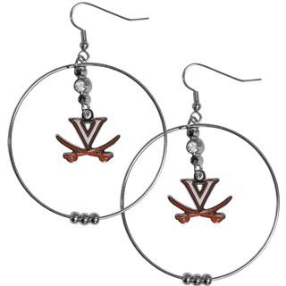 Collegiate Virginia Cavaliers 2-inch Hoop Earrings