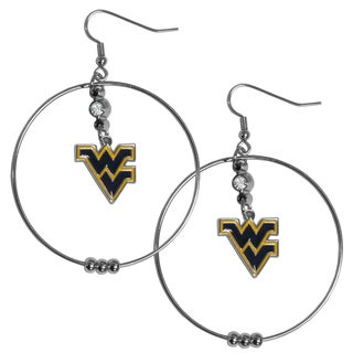 Collegiate West Virginia Mountaineers 2-inch Hoop Earrings