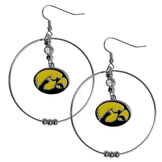 Collegiate Iowa Hawkeyes 2-inch Hoop Earrings