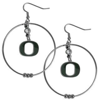 Collegiate Oregon Ducks 2-inch Hoop Earrings