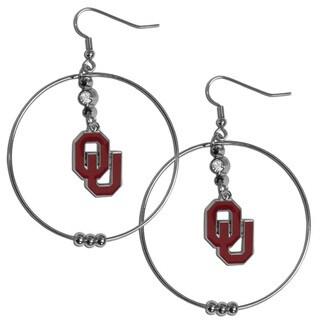 Collegiate Oklahoma Sooners 2-inch Hoop Earrings