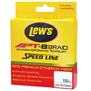 Lews Fishing APT-8 Low-Vis Green 150-yard 6-pound Braid Speed Line