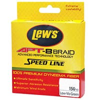 Lews Fishing APT-8 Low-Vis Green 150-yard 6-pound Braid Speed Line