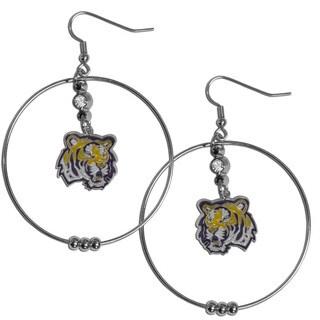 Collegiate LSU Tigers 2-inch Hoop Earrings