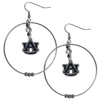 Collegiate Auburn Tigers 2-inch Hoop Earrings