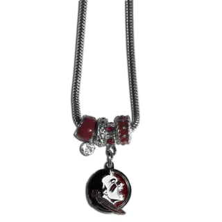 Collegiate Florida State Seminoles Euro Bead Necklace