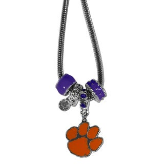 Collegiate Clemson Tigers European-style Bead Necklace