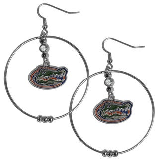 Collegiate Florida Gators 2-inch Hoop Earrings
