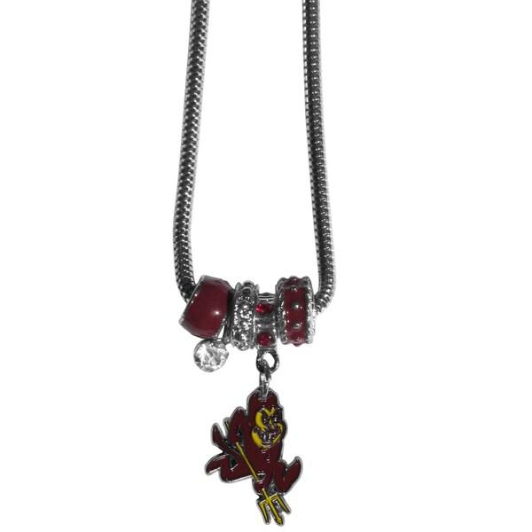 Collegiate Arizona State Sun Devils Euro Bead Necklace