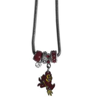 Collegiate Arizona State Sun Devils Euro Bead Necklace