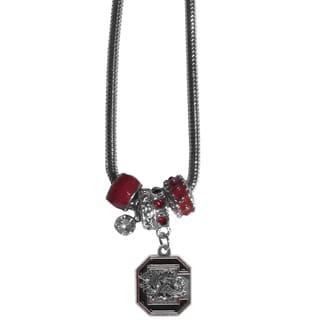 Collegiate South Carolina Gamecocks Chrome and Enamel Euro Bead Necklace