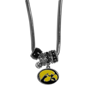Collegiate Iowa Hawkeyes Euro Bead Necklace