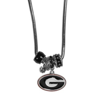 Collegiate Georgia Bulldogs Euro Bead Necklace