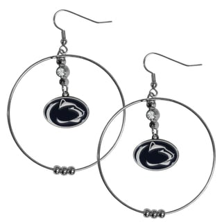 Collegiate Penn State Nittany Lions 2-inch Hoop Earrings