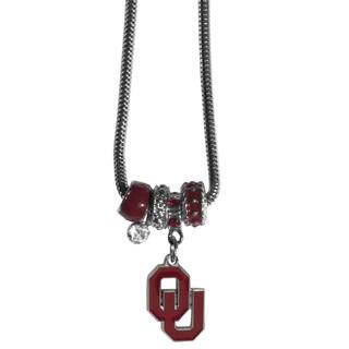 Collegiate Oklahoma Sooners Euro Bead Necklace