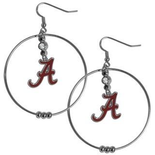 Collegiate Alabama Crimson Tide 2-inch Hoop Earrings
