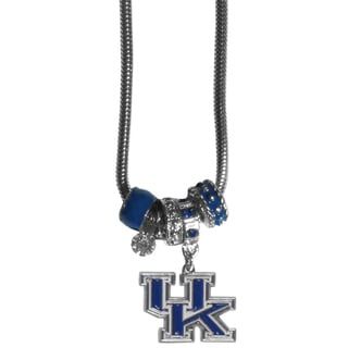 Collegiate Kentucky Wildcats Euro Bead Necklace