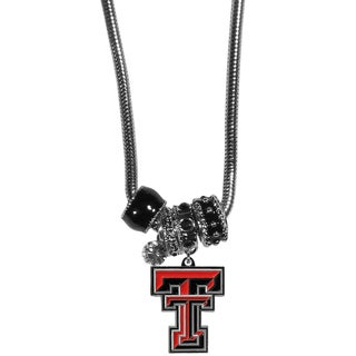 Collegiate Texas Tech Raiders Euro Bead Necklace