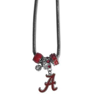 Collegiate Alabama Crimson Tide Euro Bead Necklace