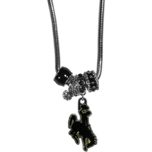Collegiate Wyoming Cowboy Euro Bead Necklace