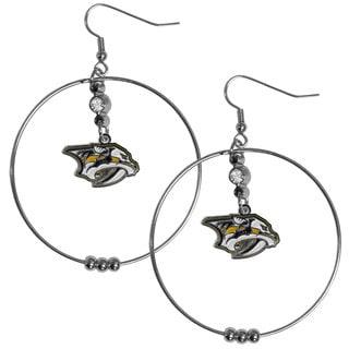 NHL Nashville Predators 2-inch Hoop Earrings