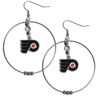NHL Philadelphia Flyers 2-inch Hoop Earrings