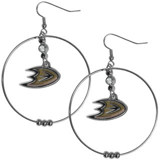NHL Anaheim Ducks 2-inch Hoop Earrings