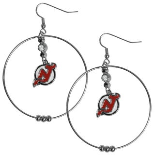 NHL New Jersey Devils 2-inch Hoop Earrings