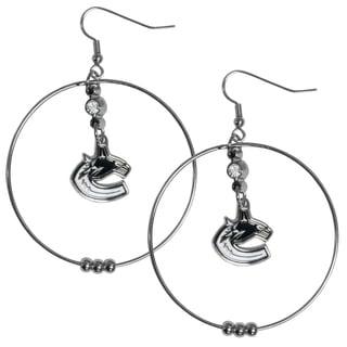 NHL Vancouver Canucks 2-inch Hoop Earrings