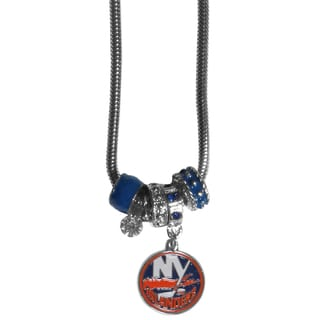 NHL New York Islanders Chrome and Enamel Euro Bead Necklace