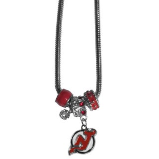 NHL New Jersey Devils Euro Bead Necklace