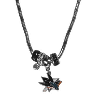 NHL San Jose Sharks Euro Bead Necklace