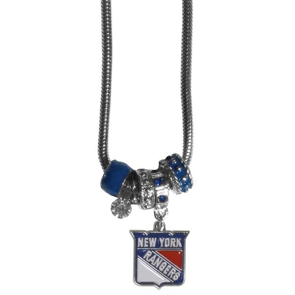 NHL New York Rangers Euro Bead Necklace