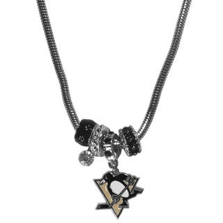 NHL Pittsburgh Penguins Euro Bead Necklace