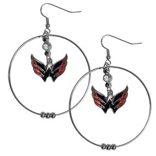 NHL Washington Capitals 2-inch Hoop Earrings