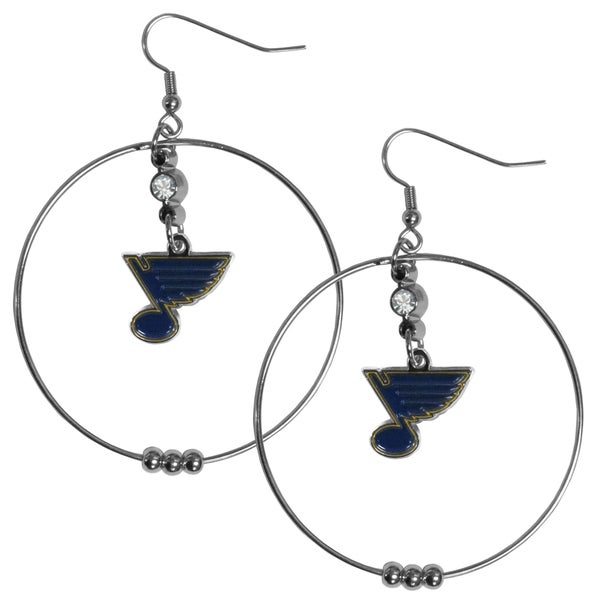 NHL St. Louis Blues 2-inch Hoop Earrings