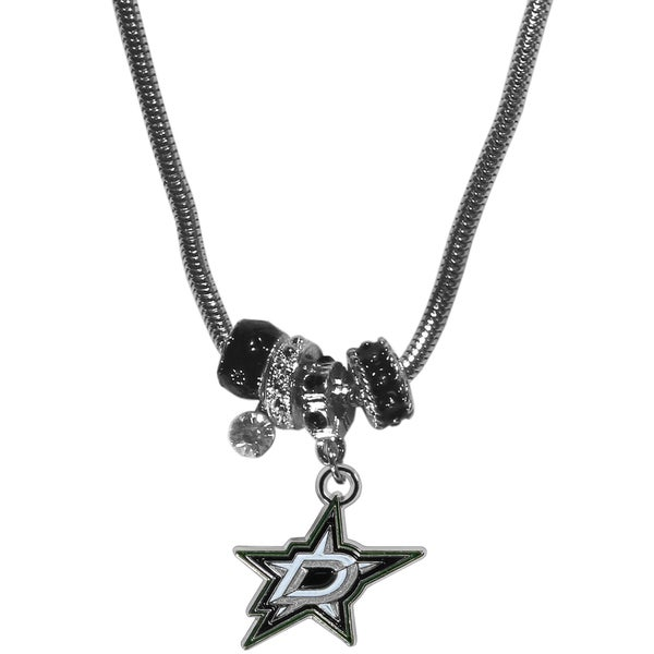 NHL Dallas Stars Chrome and Enamel Euro Bead Necklace